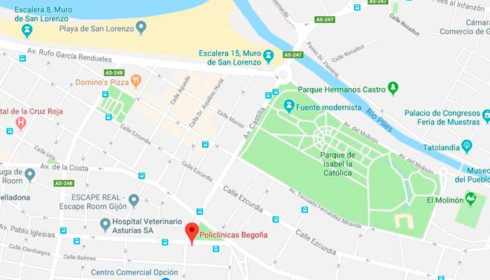 policlinica begoña enlace a maps